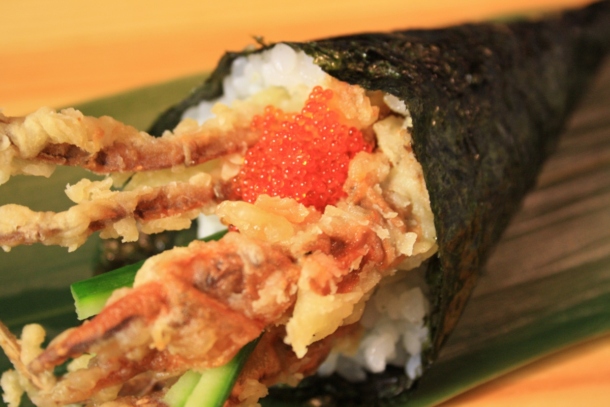538. Soft Shell Crab Hand Roll